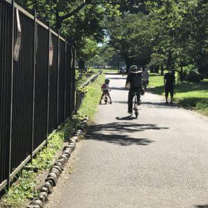 自転車で公園散策